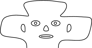 Flattened image of head