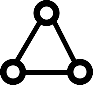A triangle of three connected nodes